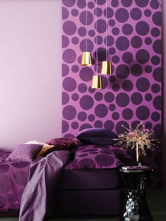 dormitorios, colores, morado, violeta, lila, decoración, pintura, murales, valencia