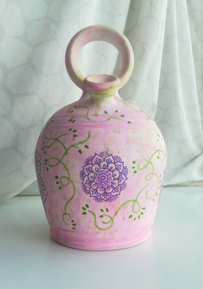 Botijo decorado pintado a mano