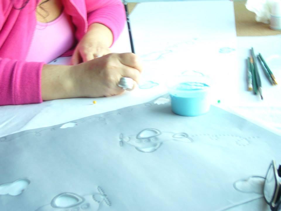 Textiles pintados a mano